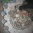 Отделка пола мраморной мозаикой