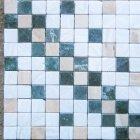Укладка мозаики из мрамора